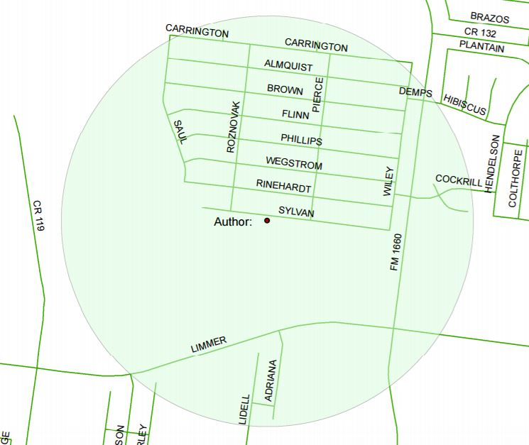 Map for mosquito spraying in Hutto this weekend._372274