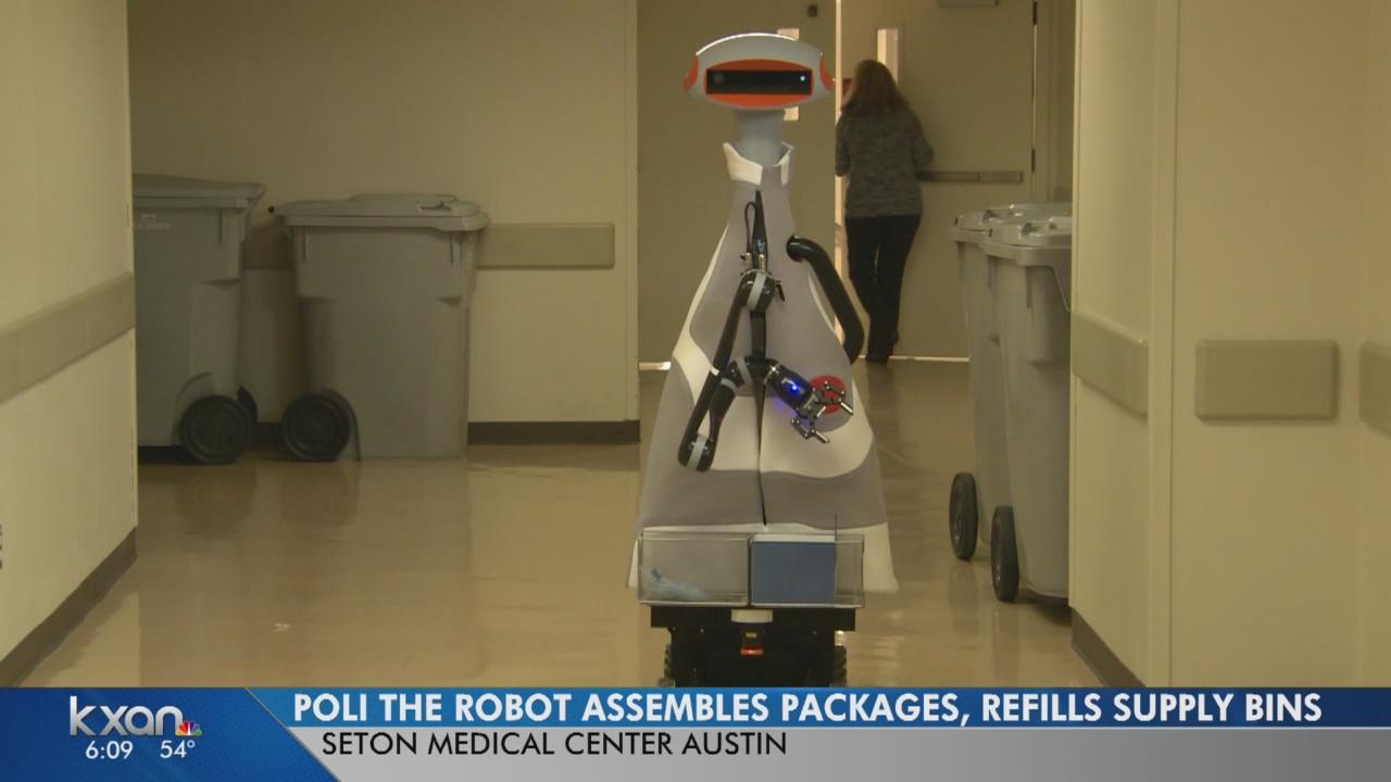 Poli, hospital assistant robot, frees up nurses' time at Seton