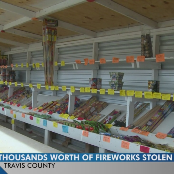 Thousands of dollars worth of fireworks stolen from Big Tex stand