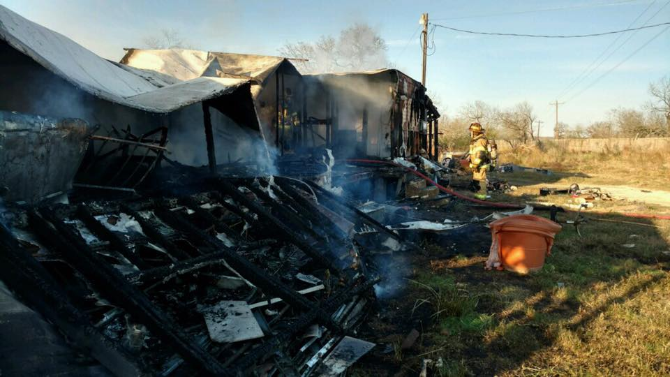 Mobile home destroyed in Caldwell County fire on the 1100 block of St. John's Road (Courtesy_ Caldwell Co. Fire Dept)_389417