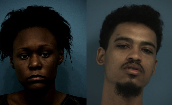 Amirah Silver (left) and Cory Holloman (right) were arrested after black tar heroin was found in their possession_392898