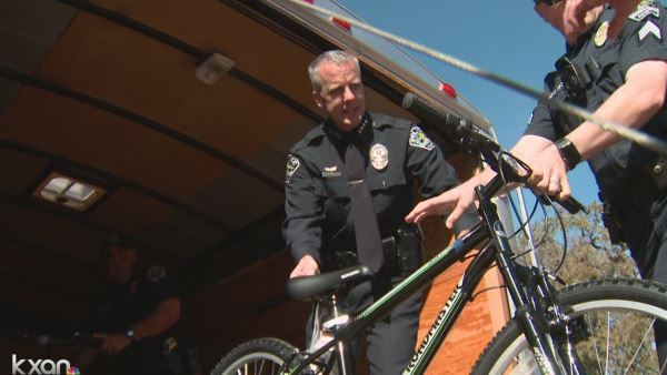 APD Interim Chief Brian Manley unloading bikes for the Blue Guardian Program_386547