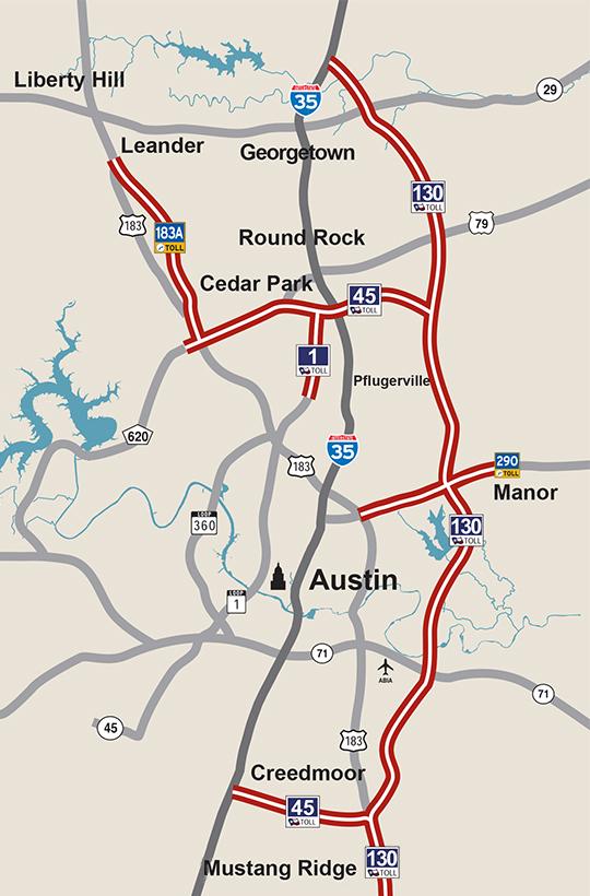 Austin-area toll roads (TxTAG)