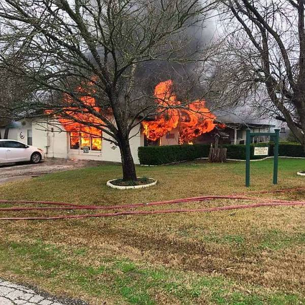 Fire sparked at Manor home, crews working to learn the cause_401377