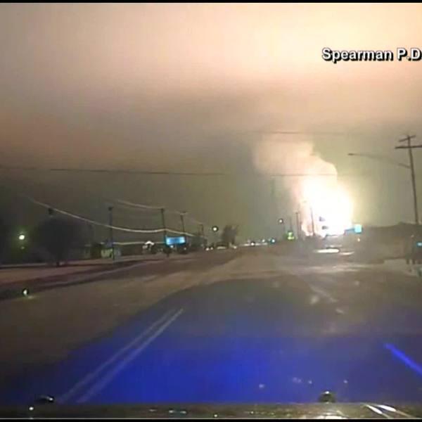Spearman gas line rupture caught on camera (NBC News photo)_401193