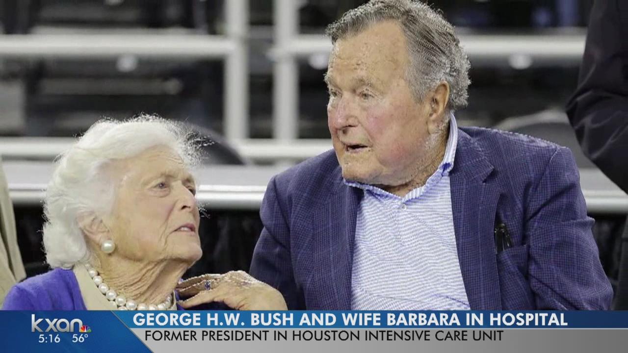 George H.W. and Barbara Bush both hospitalized