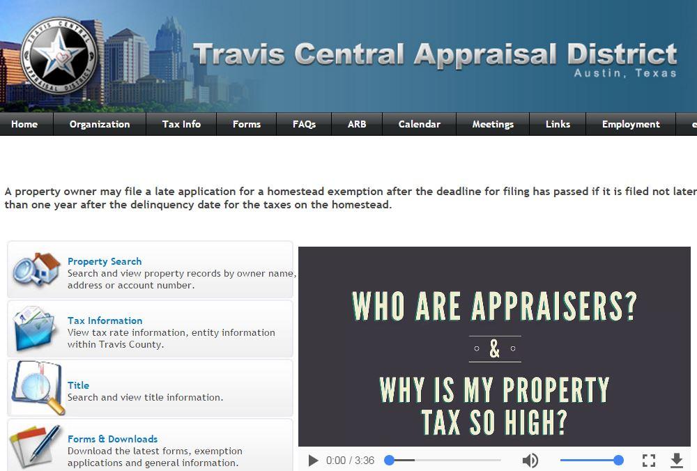 Travis Central Appraisal District website_403862