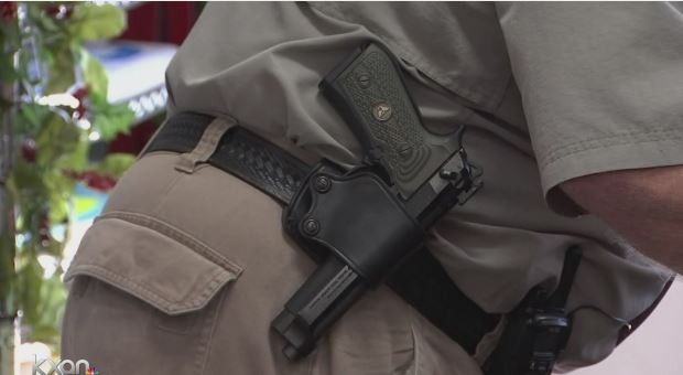 FILE - A holstered gun_366828