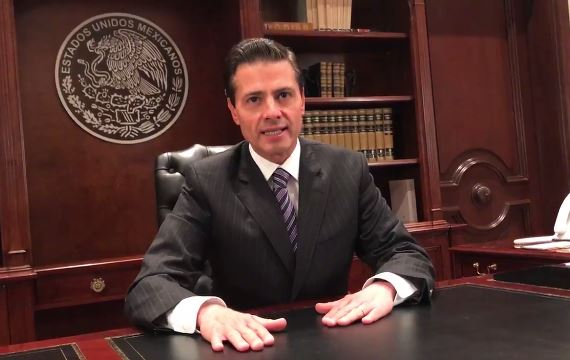 Enrique Pena Nieto says he rejects President Trump's plan to build a border wall_404546