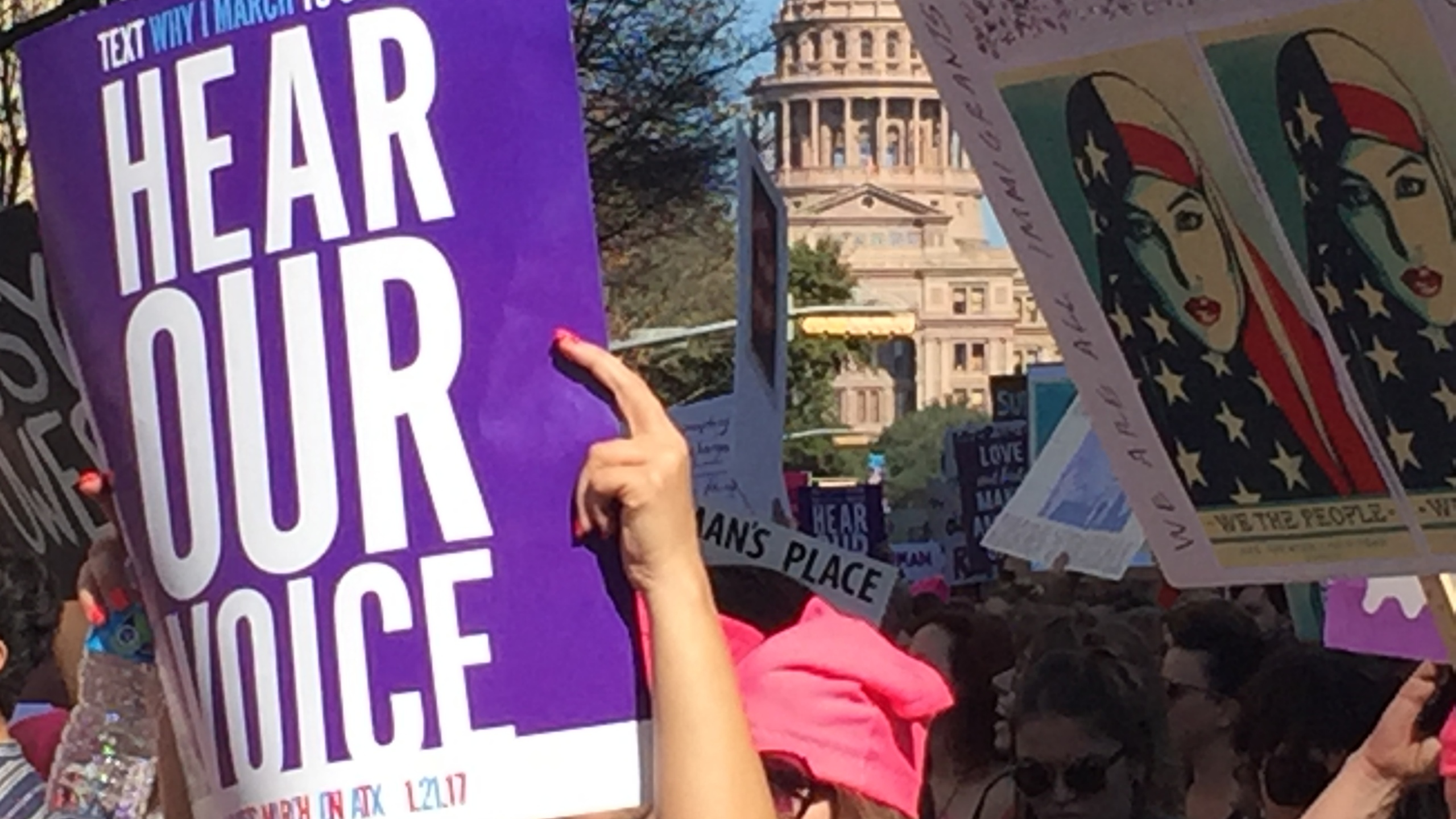 Women's March taking over downtown Austin at the State Capitol_402398