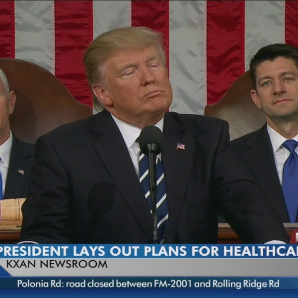 Trump notes how difficult it is to find a new health care system