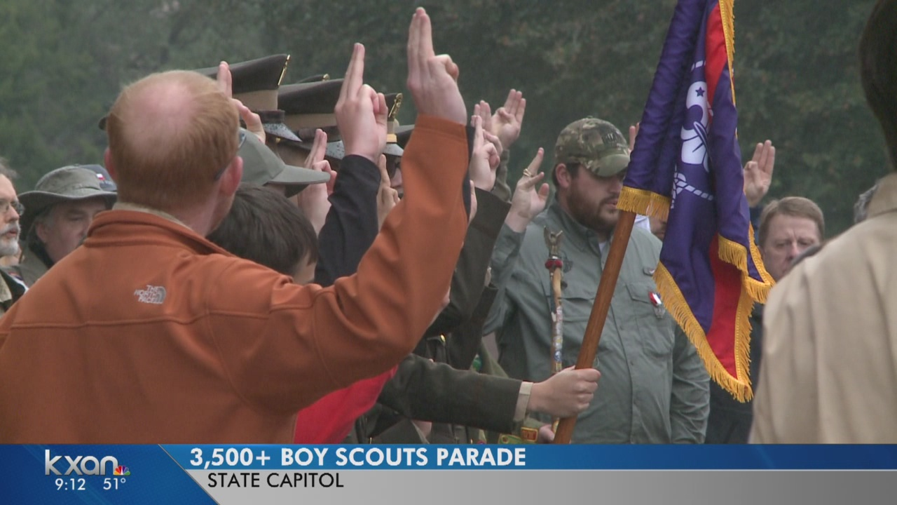 Boy Scout parade at the State Capitol