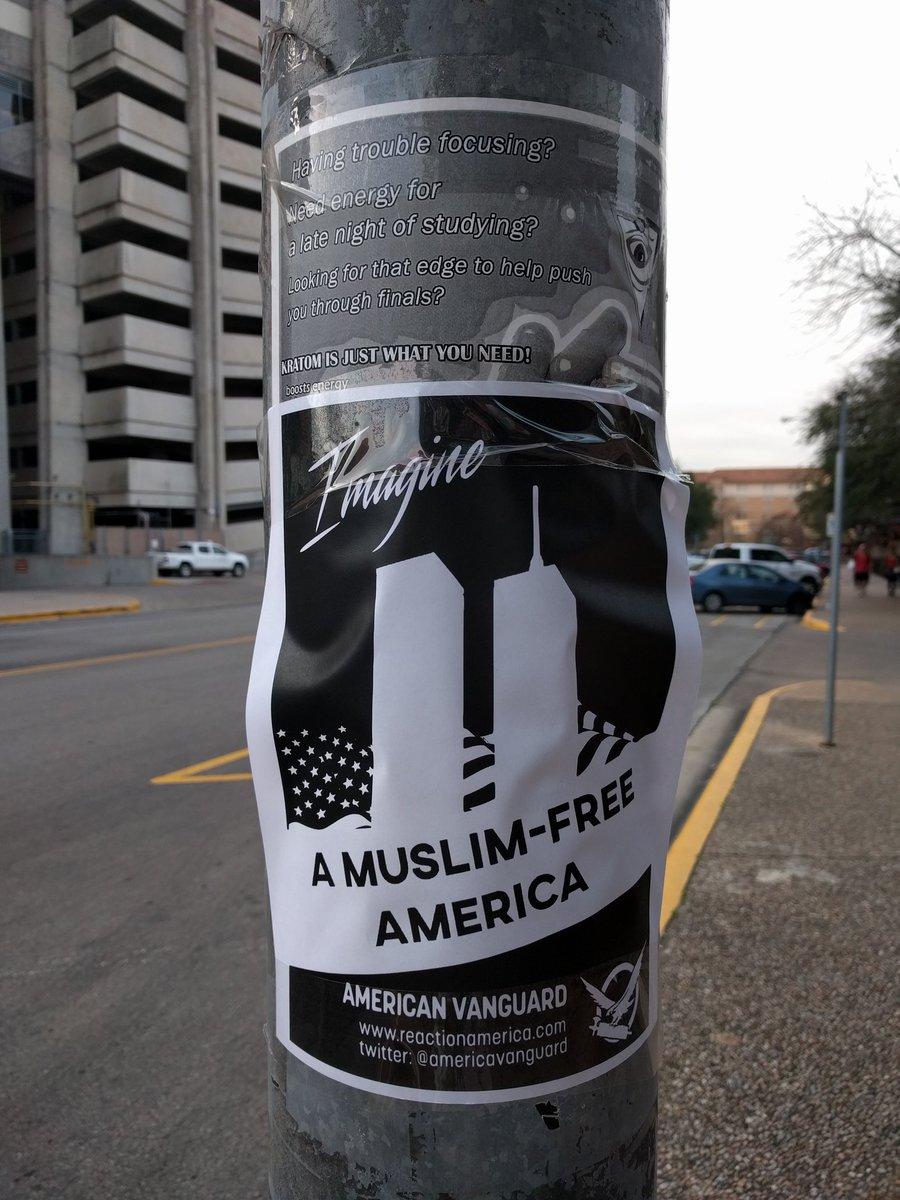 Anti-Muslim flier on UT campus_418414