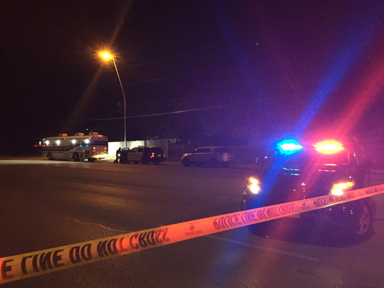 A woman was shot and killed in an officer involved shooting on Manchaca Road near Keilbar Lane in south Austin. Feb. 22, 2017 (KXAN Photo_Lesli_424381