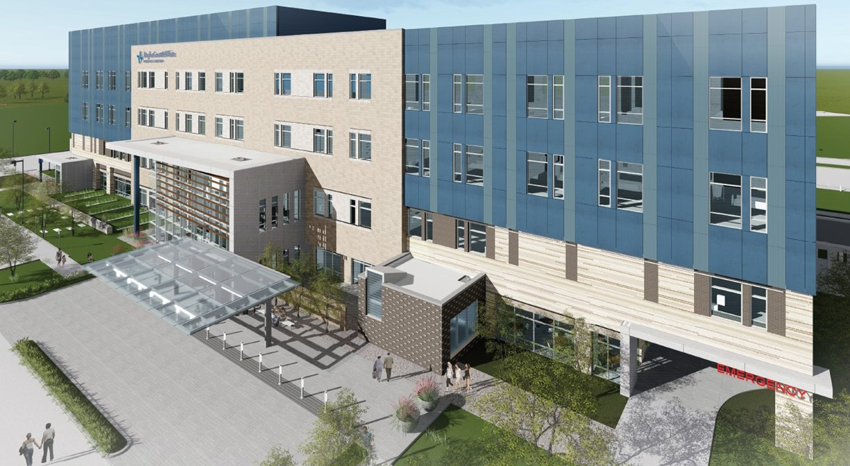 Rendering of Pflugerville's first hospital to be operated by Baylor Scott & White_414931