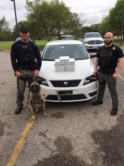 Lobos sniffs out 13 kilos of cocaine in Fayette County (Fayette County Sheriff's Office photo)_435377