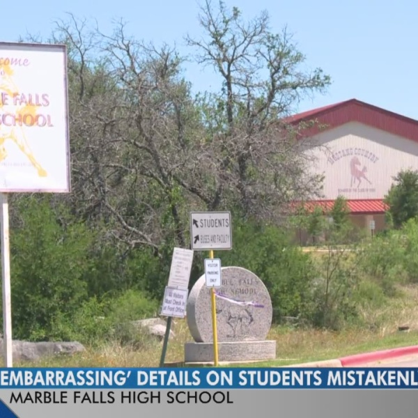 'Embarrassing' details on Marble Falls High students mistakenly emailed out