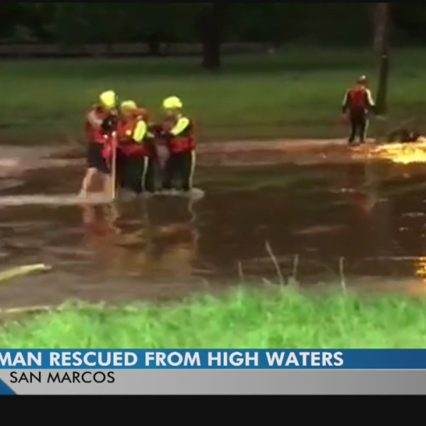 Around 50 people rescued in San Marcos flooding