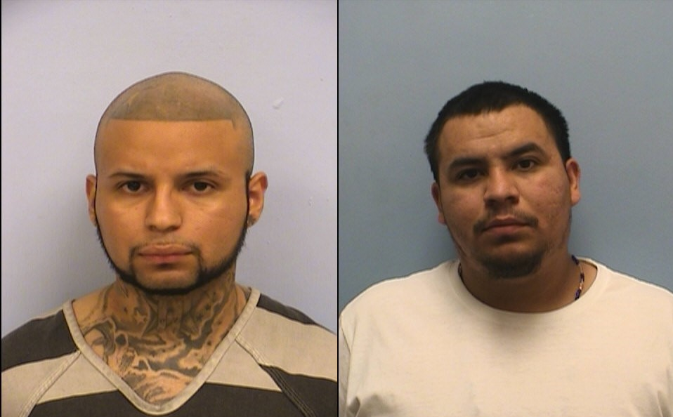 Rojelio Amaro Jr. and Augustine Amaro (Austin police booking photos)