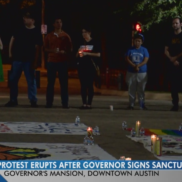 Protest sparks after newly signed sanctuary cities bill