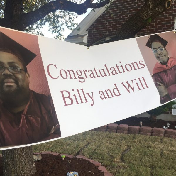 Father and son graduate from Huston-Tillotson University together._467189
