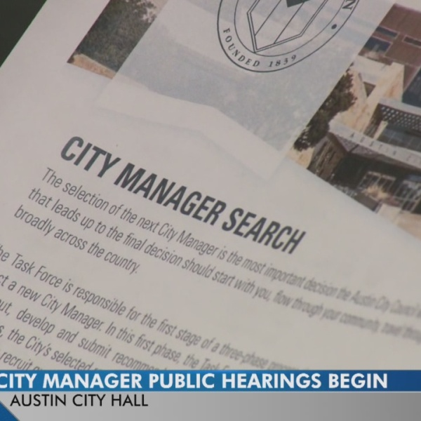 The search continues for Austin's city manager