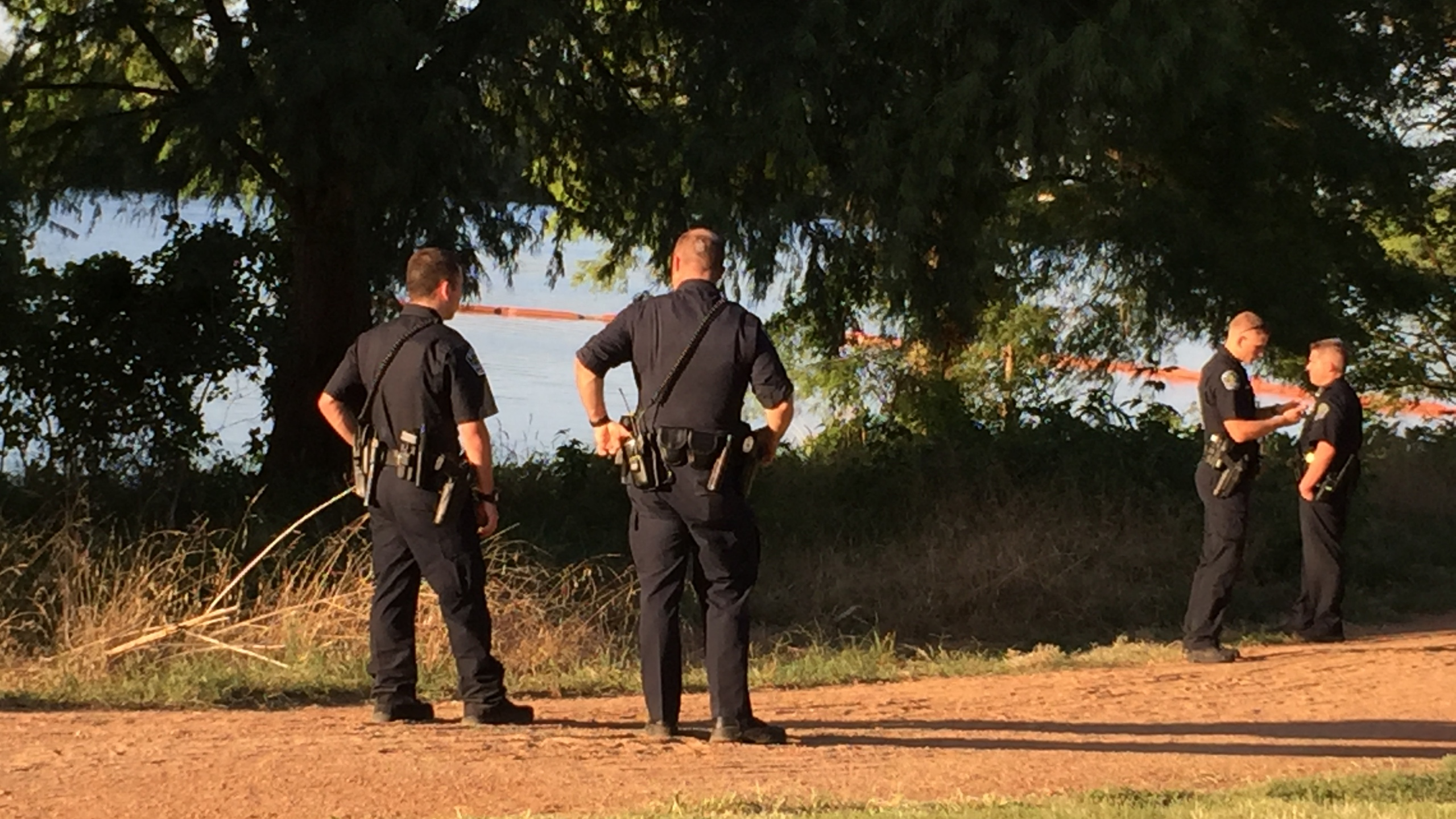 Austin police on the south shore of Lady Bird Lake near Lakeshore Boulevard following reports of a body on June 16, 2017_490693
