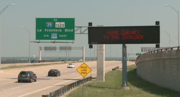 New TxDOT signs being installed in Austin (KXAN photo)_486206