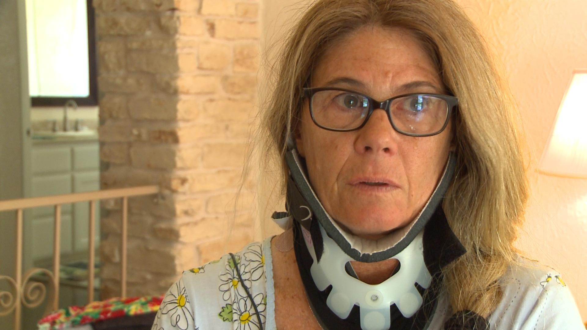 Wendy Meyer now has limited mobility after she was hit by a driver while cycling. KXAN Photo/ Alyssa Goard.