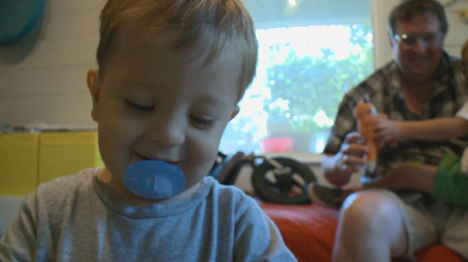 Two-year-old Apollo Howell has a birth defect and chronic illness._504102