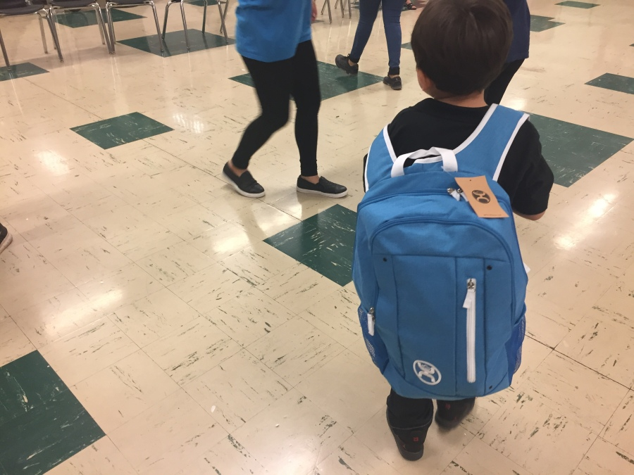 Child in Backpack - school supplies_513060