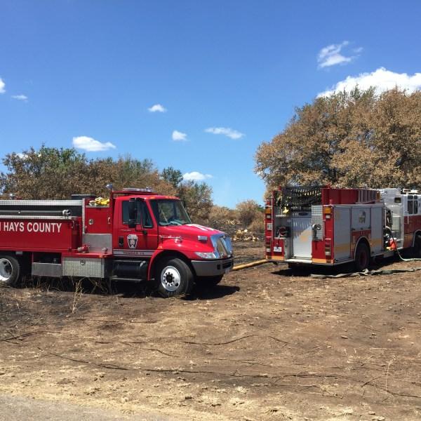 Brush fire on FM 967 near Buda_510611