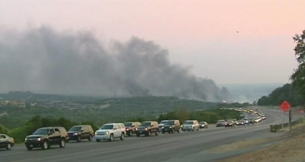 Steiner Ranch fires in 2011_381331