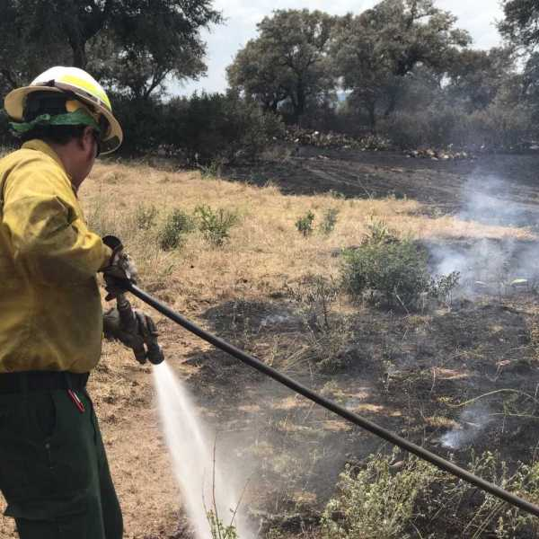 Crews put out a Blanco County brush fire_505862