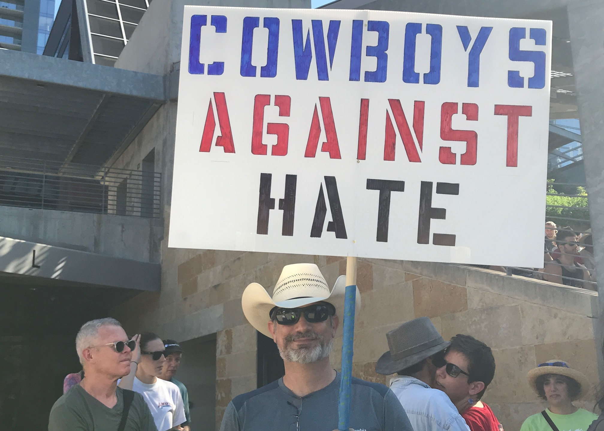 Protesters gather in Austin for a _Rally against White Supremacy_._528772