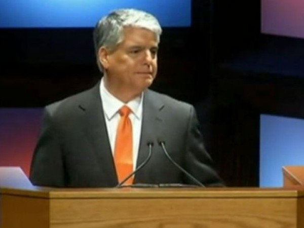 UT President Gregory Fenves at the state of the university address on Sept. 12, 2017_543832