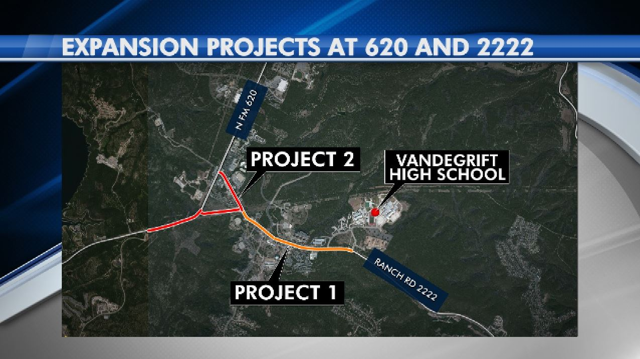A bypass lane is proposed to ease congestion at Rm 620 and FM 2222 (KXAN Photo)
