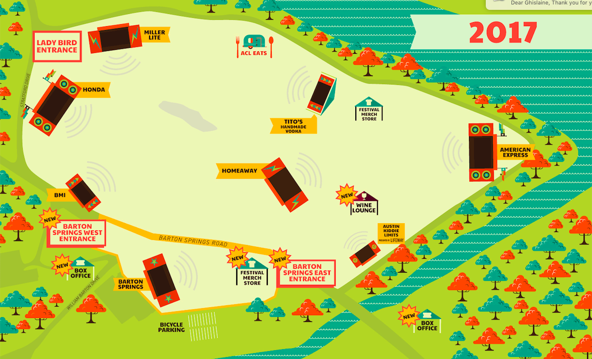 New site map for ACL Fest 2017. (ACL)