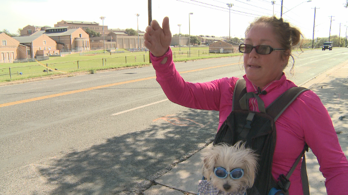 April White witnessed a hit and run on Friday, Oct. 6, 2017, and followed the driver to get his license plate number. (KXAN/Chris Davis)