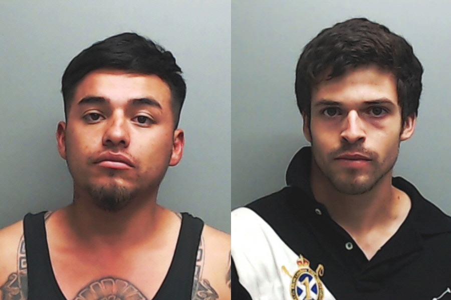 Matthew Felan, left, and Austin Lang. (Hays County Sheriff's Office)