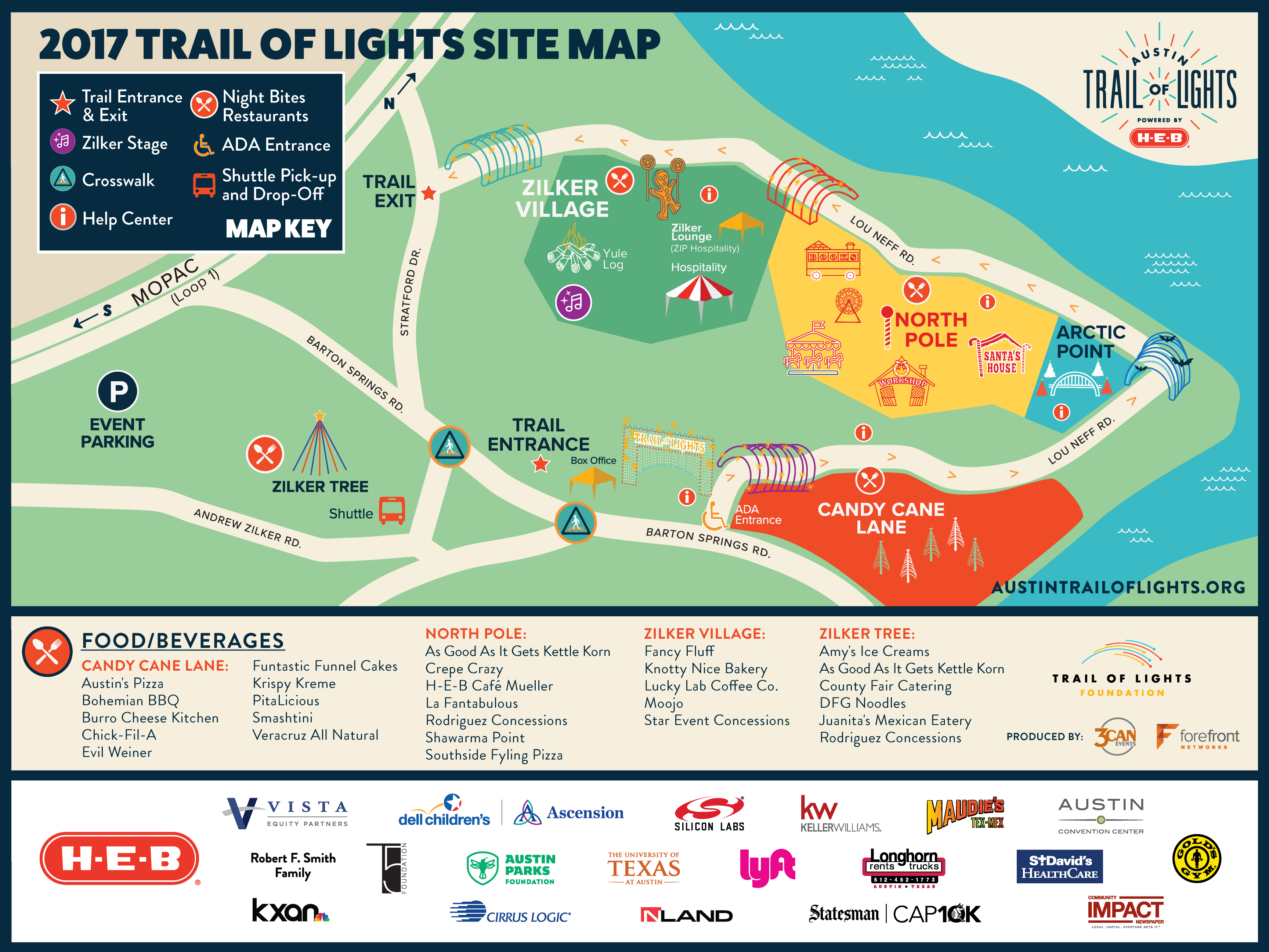 2017 Trail of Lights Map