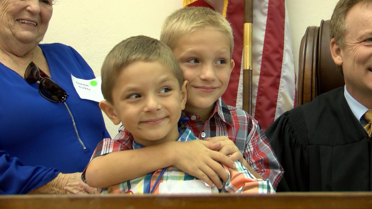 With swing of a gavel, 28 Central Texas kids get adoptions granted