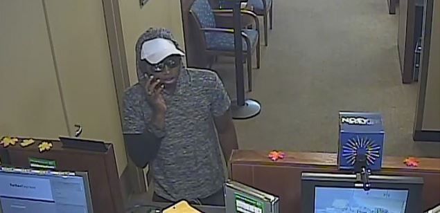 The suspect in a robbery of the Chase Bank at 104 W. Slaughter Ln. on Nov. 13, 2017_580618