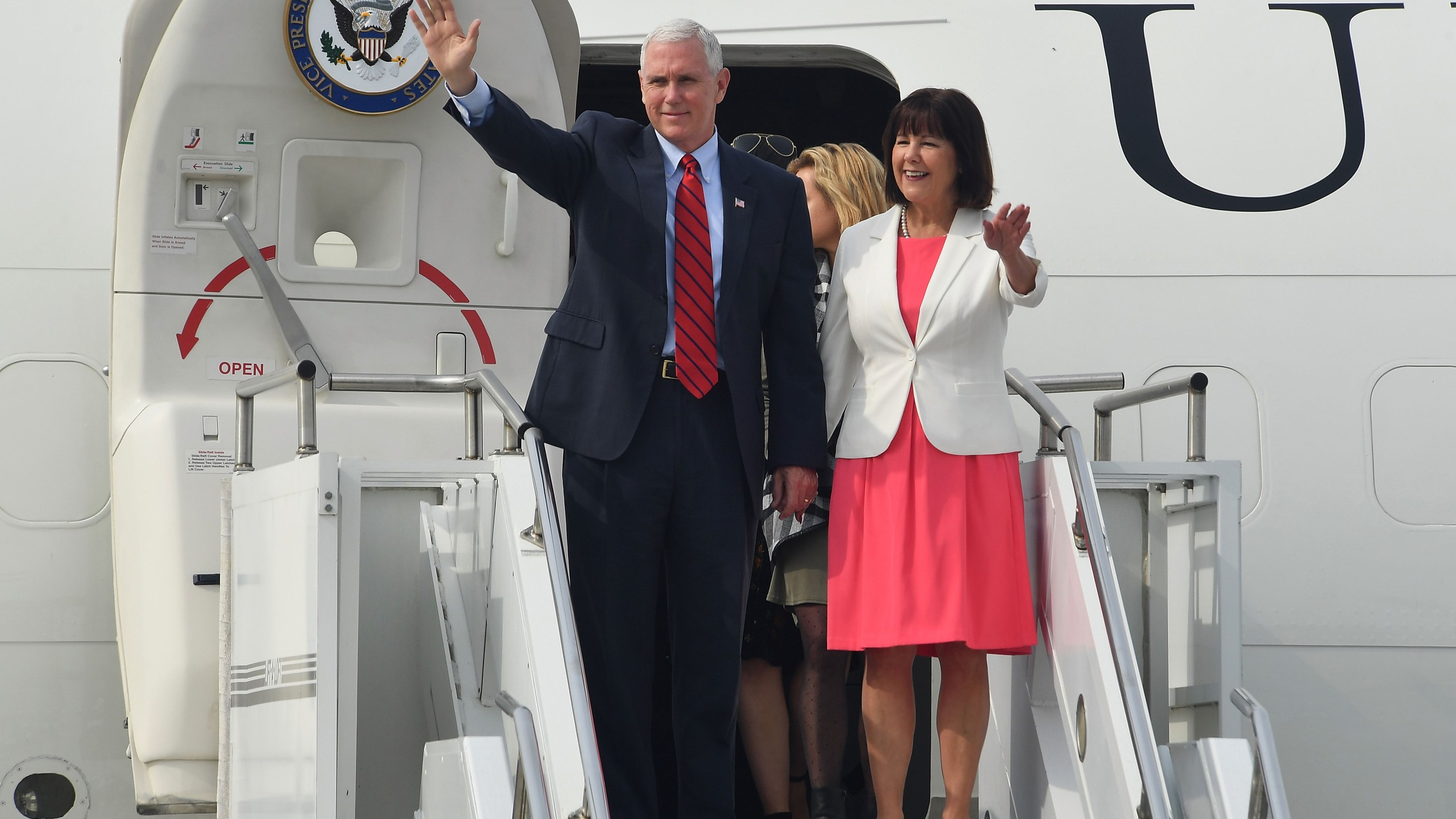 The U.S. Vice President Mike Pence Visits S. Korea - Day 1_581732