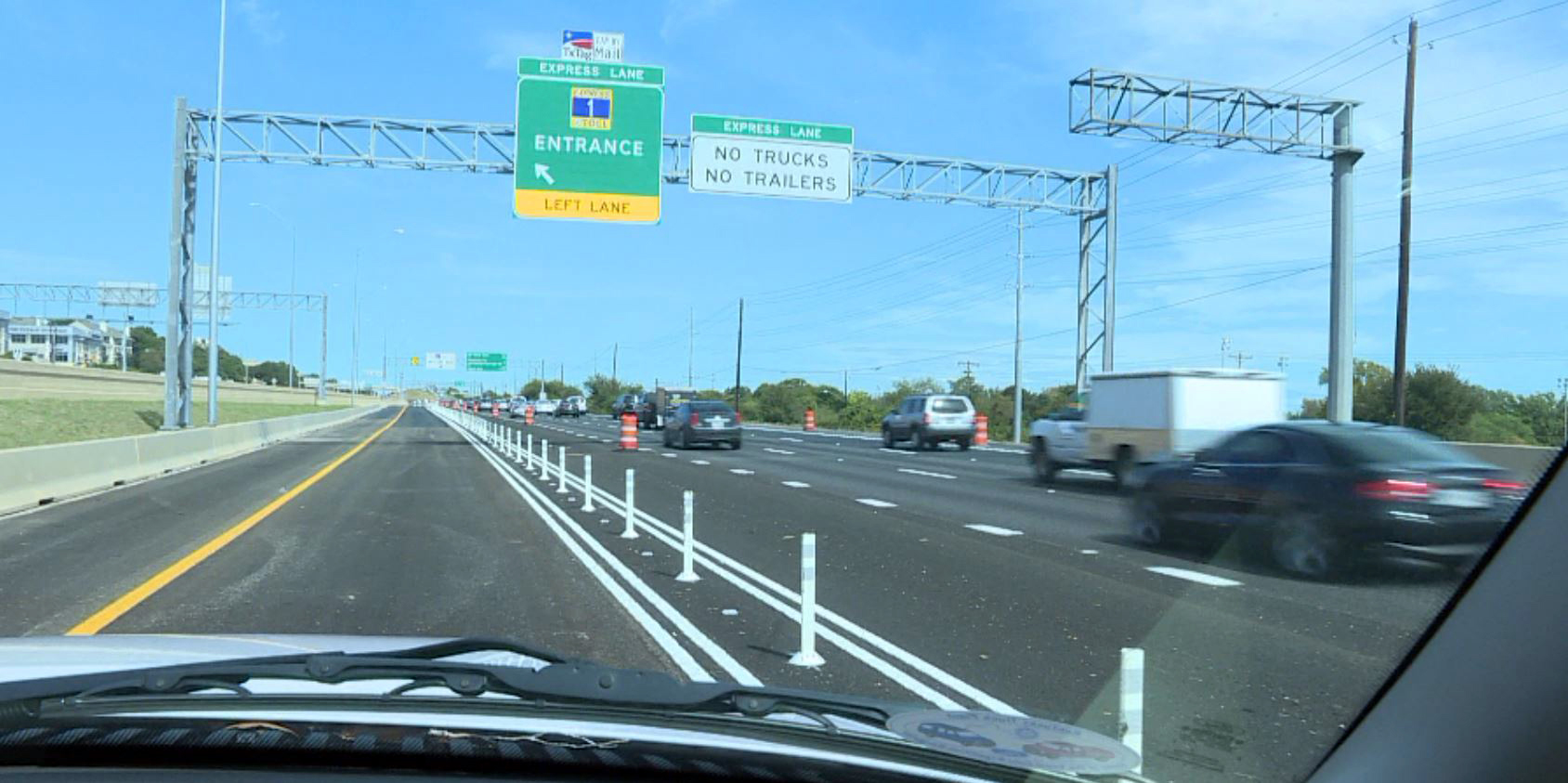 Driving on the northbound section of the North MoPac toll. (KXAN Photo/Alicia Inns)