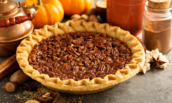 Traditional pecan pie, fall dessert concept for Thanksgiving_586158