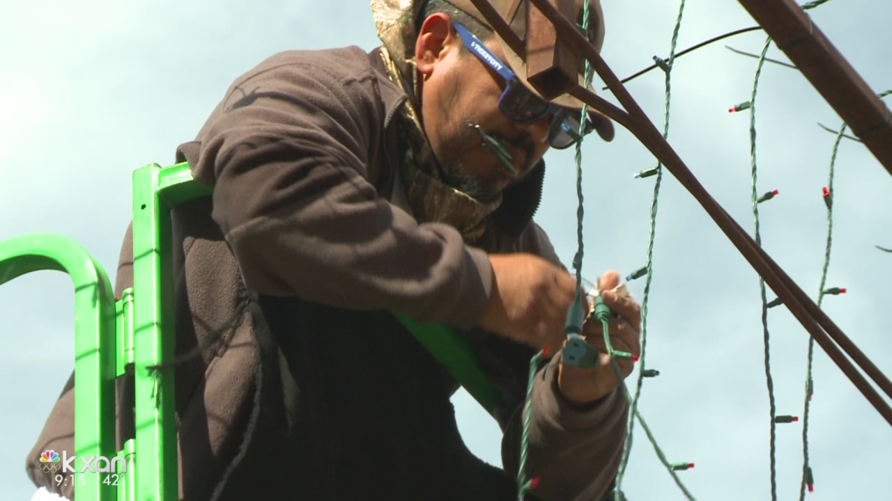 Crews begin dismantling, storing Trail of Lights for next year