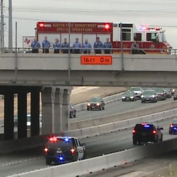 First responders escort fallen Officer Kenneth Copeland to funeral home