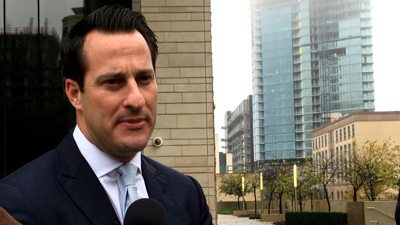 Chris Gober, an attorney representing the Texas Republican Party, speaking to reporters after a federal court hearing regarding a lawsuit to remove U.S. Rep. Blake Farenthold's name from the March 2018 primary ballot. (Nexstar Photo/Steffi Lee)