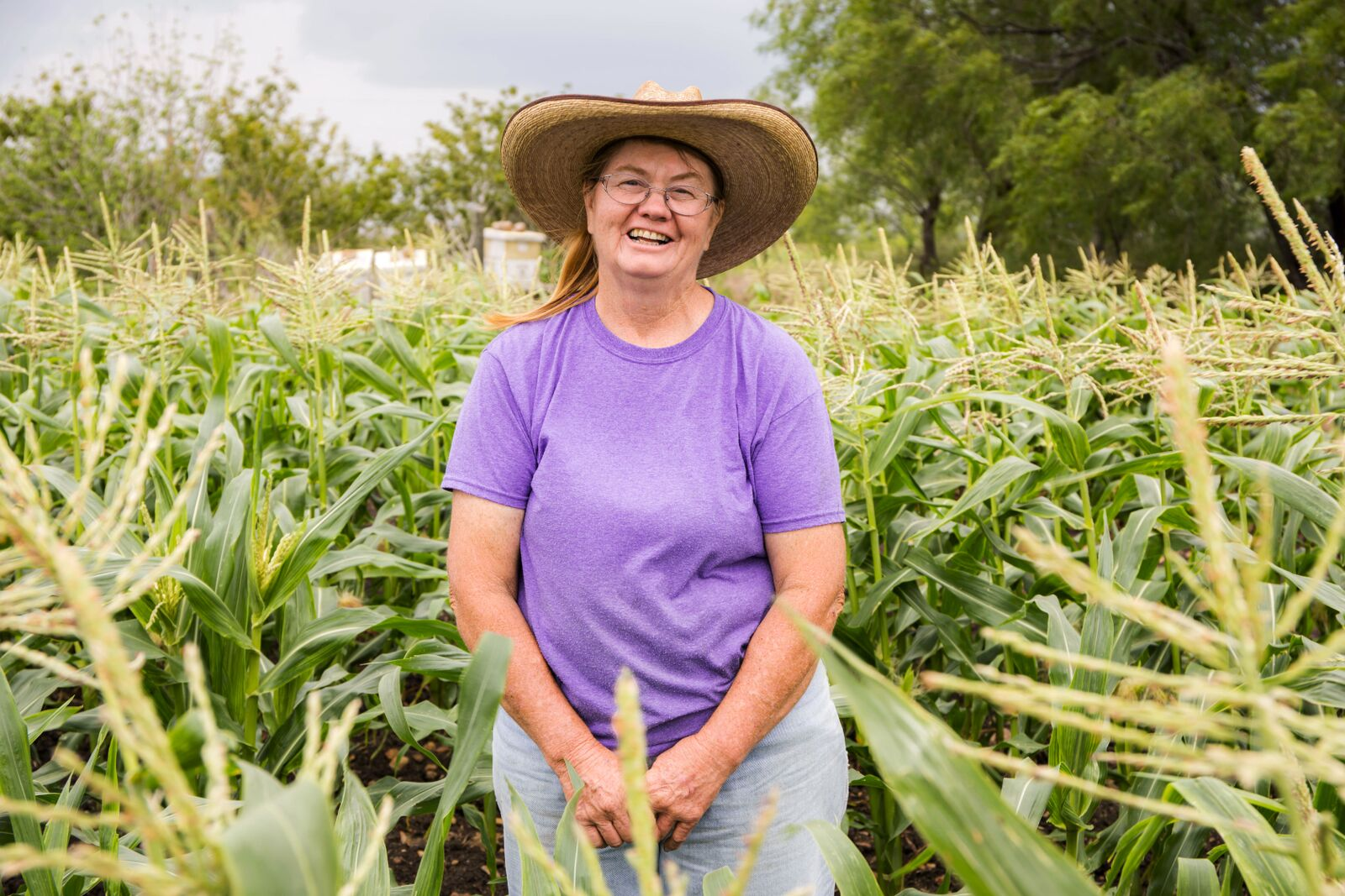 "Jackie Pomrenke of Flintrock Hill Farm is one of the women featured in the ""Women of Central Texas Agriculture"" calendar, which raises money to support the Farmer Emergency Fund. (Photo Courtesy of Texas Farmers' Market)"